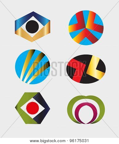 Logo Design Elements Pack vector illustration template.