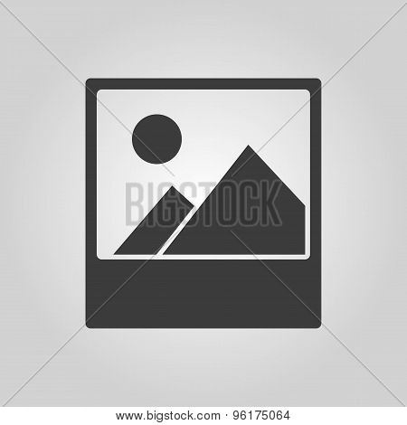 The photo icon. Picture and image, photogallery symbol. Flat
