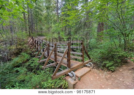 Suspension Bridge Over Falls Creek