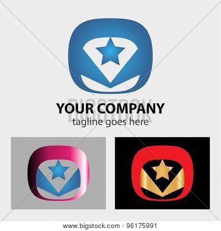 Star vector logos. Star vector logos design template