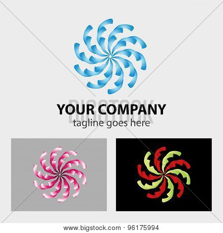 Swirly logo vector. Swirly logo vector design