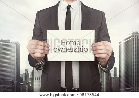 Home ownership on paper