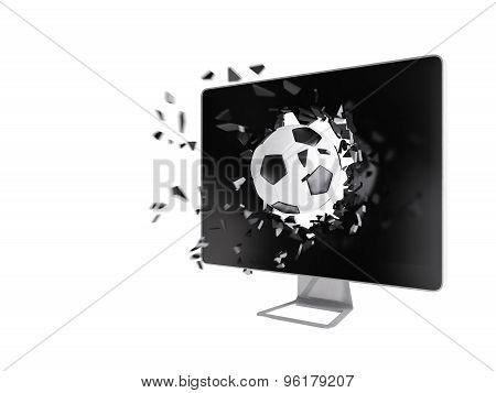Football Destroy Computer Screen.