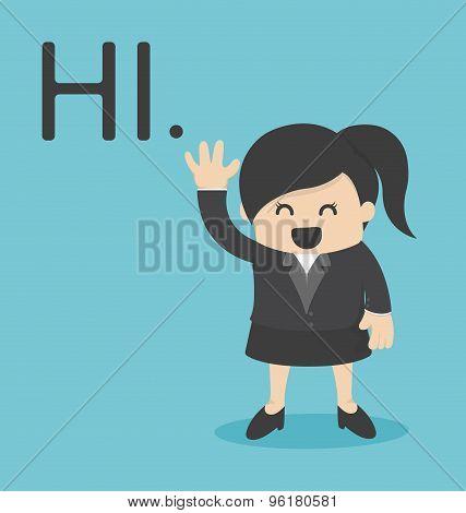 Business Woman Hi