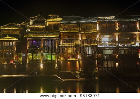 Night Scene At Fenghuang Ancient City.