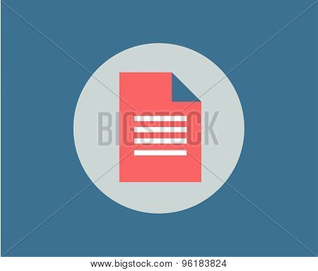 Document white sheet vector icon isolated. School objects, or university and college symbols. Stock design elements.