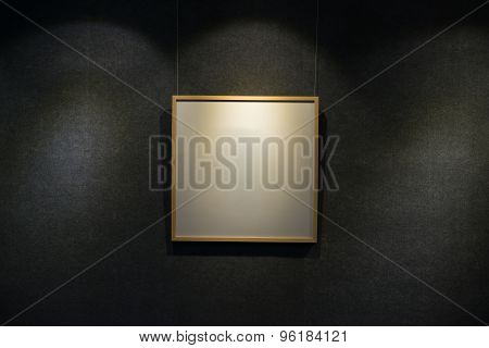 Blank Display Frame Highlighted In A Showroom