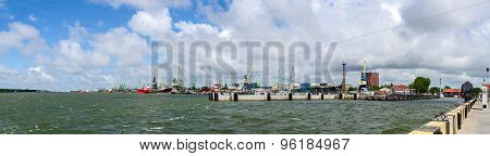 Klaipeda Port And Embankment