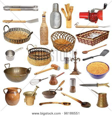 Collection Of Different Kitchen Utensils And Objects