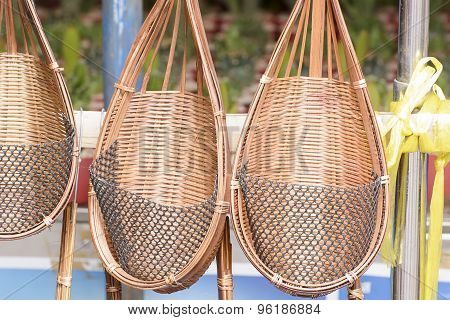 Wicker or basketwork for tree planting.