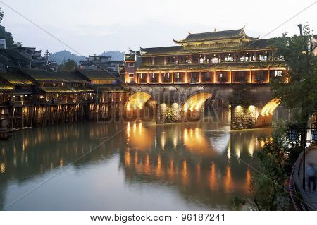 View Of Fenghuang Ancient City.