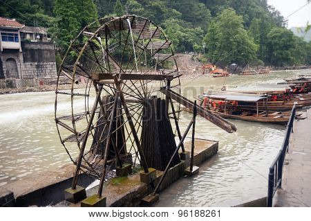 Waterwheel In Fenghuang Ancient City.