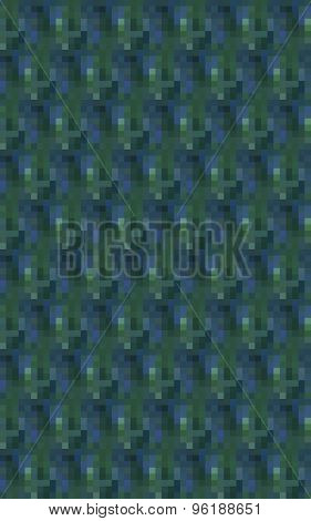 Abstract pixelated blue green background vertically oriented