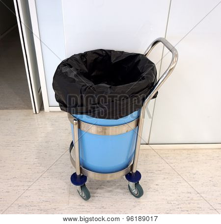 Trash Bag Inside Garbage Bin