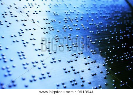 Plain Braille Page Macro With Blue Toned
