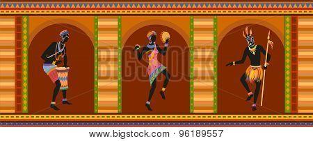 Ethnic Dance African People