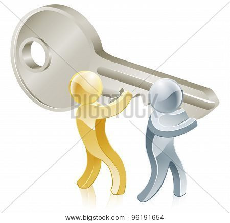 People Holding Key