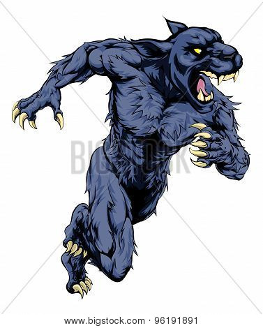 Panther Sports Mascot Running