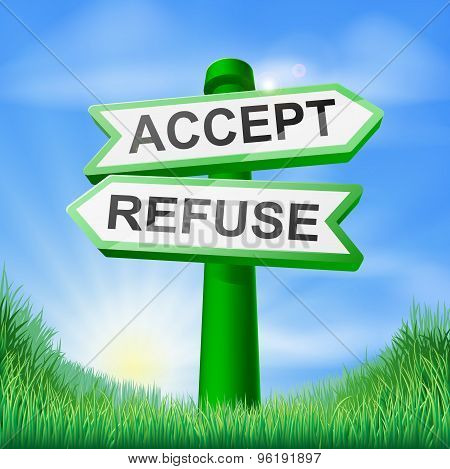 Accept Or Refuse Sign In Field