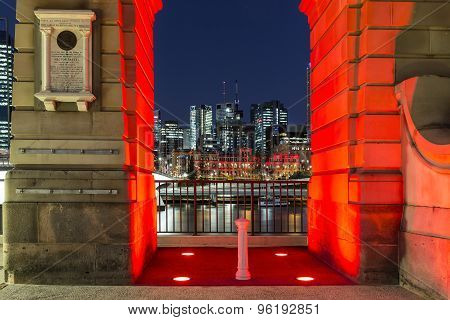 Brisbane Cityscape through old arch