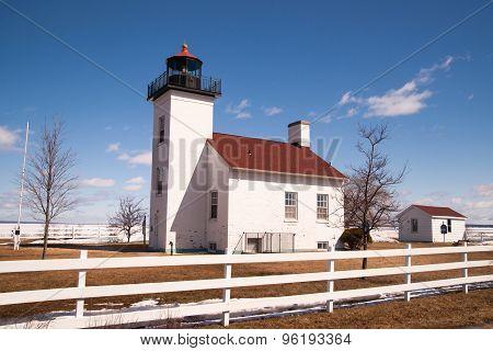Sand Point Lighthouse Nautical Beacon Escanaba Lake Michigan