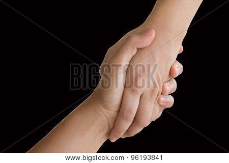 Hands On White Backgrounds