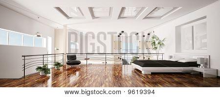 Modern Bedroom Interior Panorama 3D