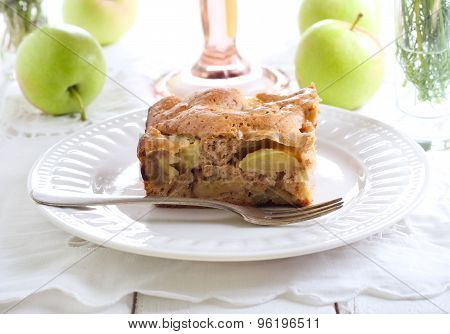 Slice Of Chunky Apple Cake