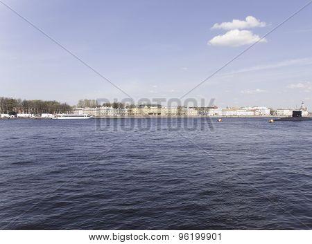 Panorama Of The Neva River