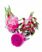 foto of priceless  - Dragon fruit isolated on white background  - JPG