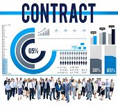 stock photo of bartering  - Contract Agreement Deal Bargain Partnership Concept - JPG