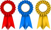 stock photo of rosettes  - A collection of red - JPG