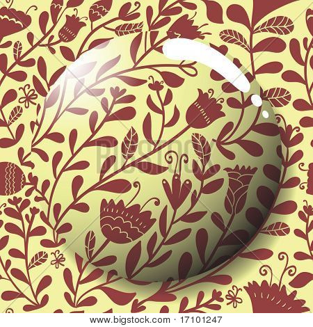 Vector lens on a cute floral pattern