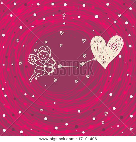 lovely cupid, valentine card