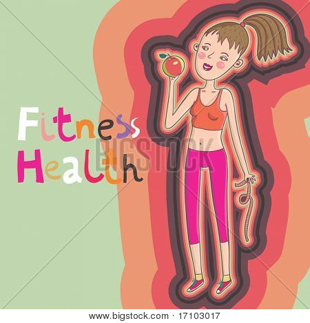 Healthy cartoon illustration