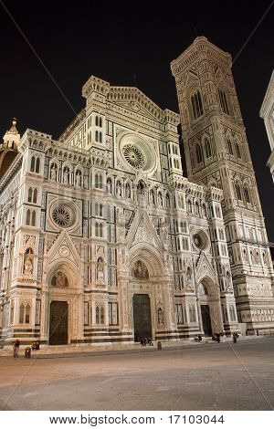 Florence - cathedral Santa Maria del fiore in the night