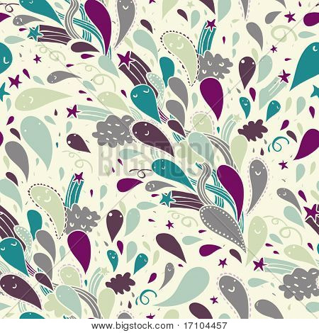 Cartoon holiday background. Seamless pattern