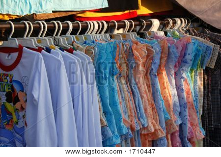 Clothes In The Market