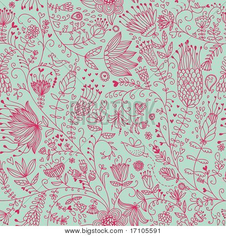 Summer floral seamless pattern for cute wallpapers