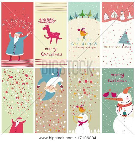 8 Cartoon Christmas Banner