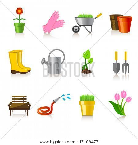 garten-ringelblume Icon-set