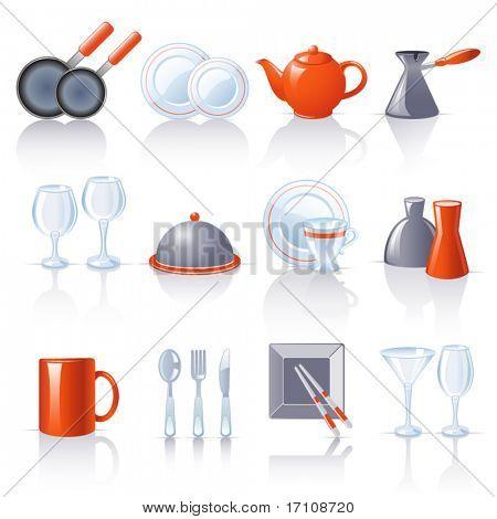 ícones de utensílio de cozinha