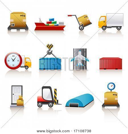 ícones de logísticas