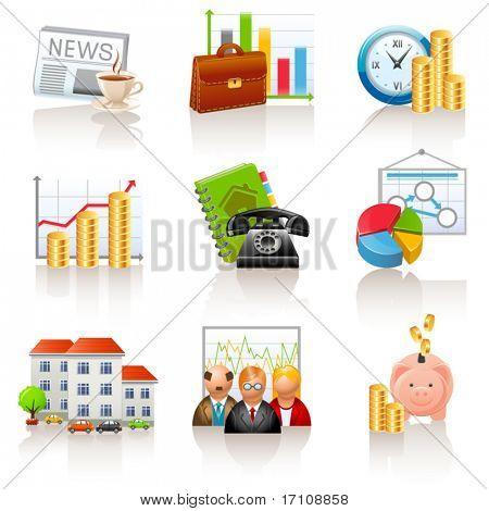 Iconos de negocios y Finanzas