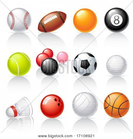Sport equipment icons