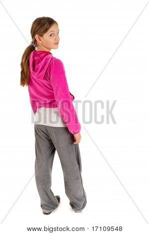Funky young girl isolated on white background