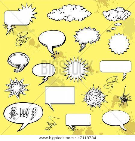 Dibujos animados de burbujas