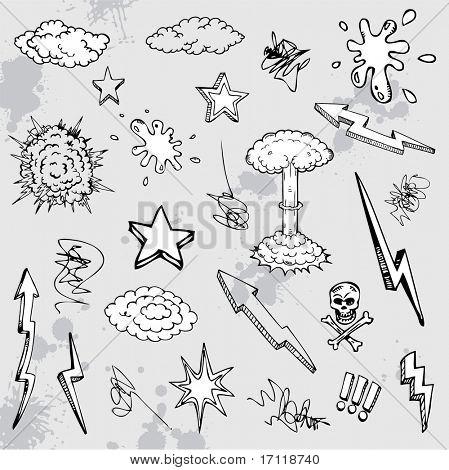 Hand drawn diseño de dibujos animados