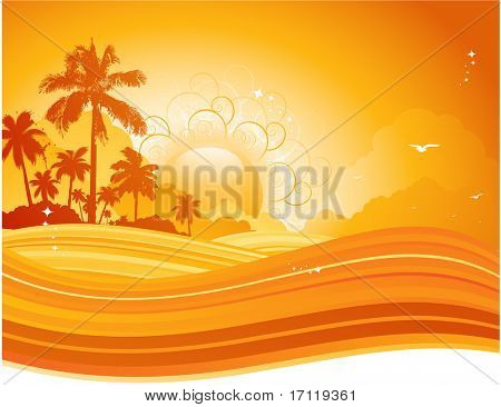 Palm tree summer background
