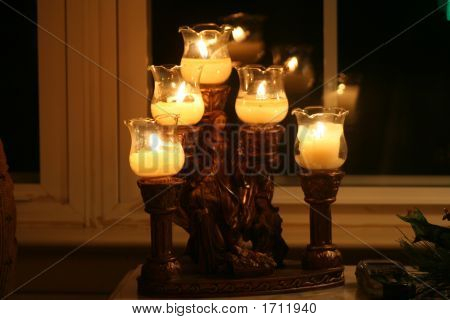Candles At Night
